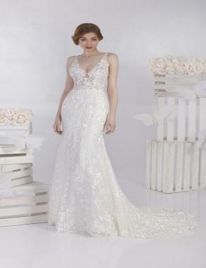 Knaten aansluitende bruidsjurk lage rug